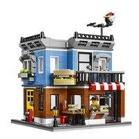 24007 LEPIN City Creator 3 In 1 Corner Deli Model Building Blocks Classic Enlighten Figure Toys