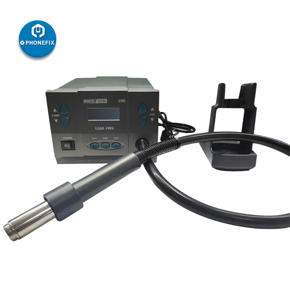 Quick 881D Hot Air Rework Station 1300W 2 IN 1 Quick 856AD And 861DW Professional Phone BGA Repair Rework Station