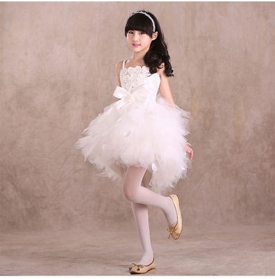 ФОТО Children show dress big TongPengPeng red flower girls dress girl princess dress of the girls