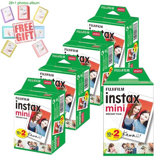 Fujifilm Instax Mini Instant White Film + Free Album For Instax Mini 11 9 8 7s 70 90 25 Camera Printer Liplay SP 2 Polariod 300