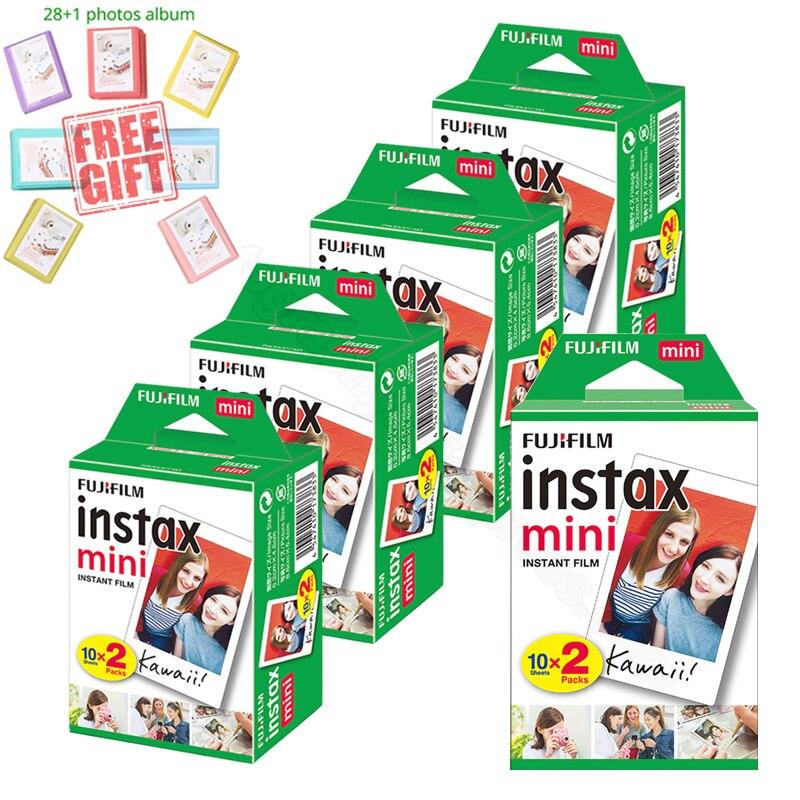 Fujifilm Instax Mini Instant película blanca + álbum libre para Instax Mini 9 8 8 + 7 s 70 90 25 50 s Cámara impresora SP-2 1 Polaroid 300