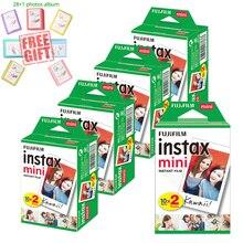 Fujifilm Instax Mini anında beyaz Film + ücretsiz albümü Instax Mini 11 9 8 7s 70 90 25 kamera yazıcı Liplay SP 2 polaroid 300