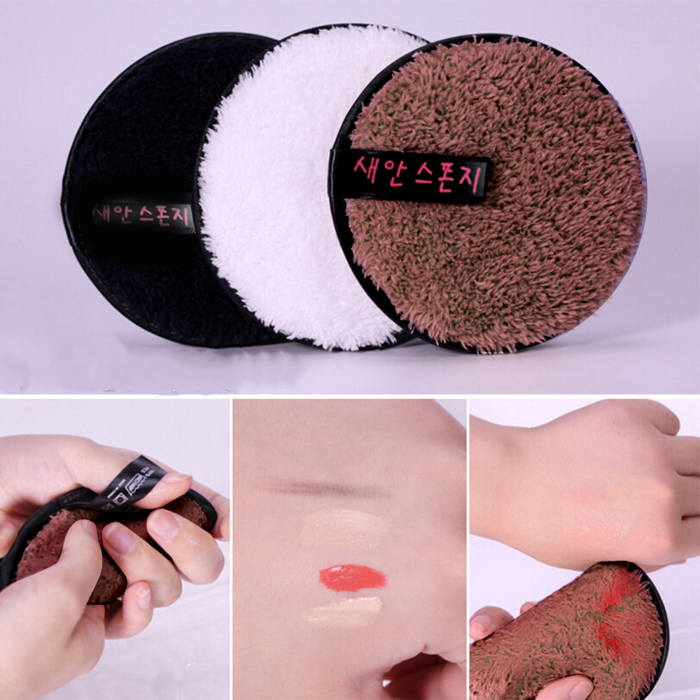 Beauty Essentials Cooperative Microfiber Cloth Pads Remover Towel Face Cleansing Makeup Sponge Container Make Up Sponge Sponge Stand Powder Puff Case Attractive Designs;