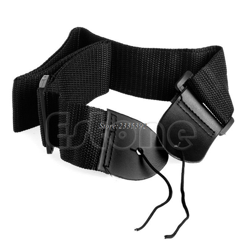 New Hot Black Adjustable Fuax Leather Ends Guitar Strap for Electric Acoustic Guitar Bass