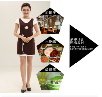 Cute Apron Korean Fashion Custom Printed Logo Supermarket Nail Shop Beauty Salon Beautician Overalls Apron Female