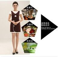 Cute Apron Korean Fashion Custom Printed Logo Supermarket Nail Shop Beauty Salon Beautician Overalls Apron Female