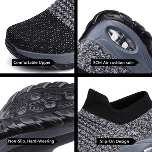 Image 5 - Tênis feminino, tênis meia preto plataforma macio confortável para moças sapatos para mulheres primavera 2019