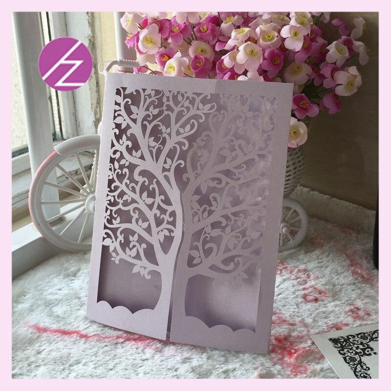 12pcs/lot wedding party decoration paper craft laser cut love tree ...