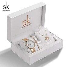 SK Brand Creative Women Watch Bracelet Necklace Set Female Jewelry Fashion Luxury Bangle For Valentines Gift