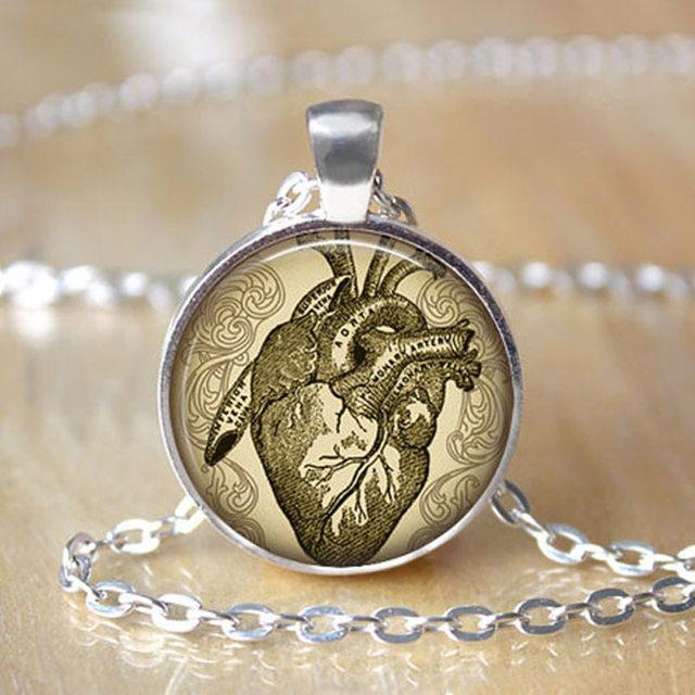 Online Shop JEPHNE Anatomical Heart Necklace Neurology Jewelry ...
