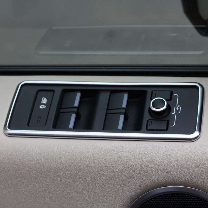 Për Landrover Range Rover Sport RR Sport 2014-2017 Makinë Styling ABS Chrome Button Lift Window Button frame Forcim 4pcs
