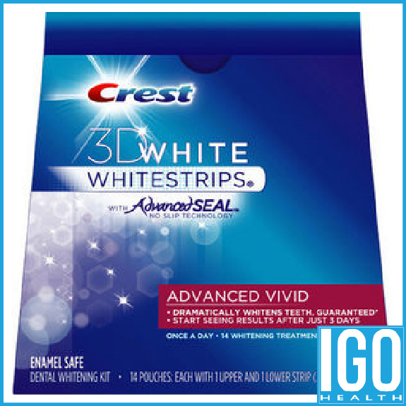 Crest teeth Whitestrips advanced vivid 3D White Original Oral Hygiene Teeth Whitening strips 14 Pouches 1 box free shipping crest 3d white whitestrips professional effects teeth bleaching gel oral hygiene teeth whitening strips 3box