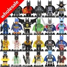 Atacado 20 pcs Batman Figura DC Comic Super Hero Ribbit Natação Cavalheiro Homem Morcego Modelo de Blocos de Construção Tijolos Brinquedos