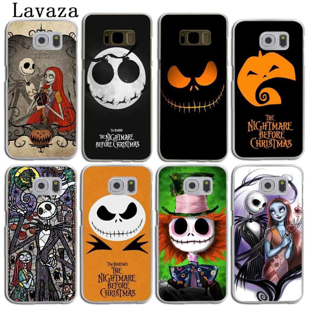 Nightmare Before Christmas Phone Case.Lavaza The Nightmare Before Christmas Cartoon Hard Skin Phone Case For Samsung Galaxy S10 E S8 S9 Plus S6 S7 Edge S10e Cover