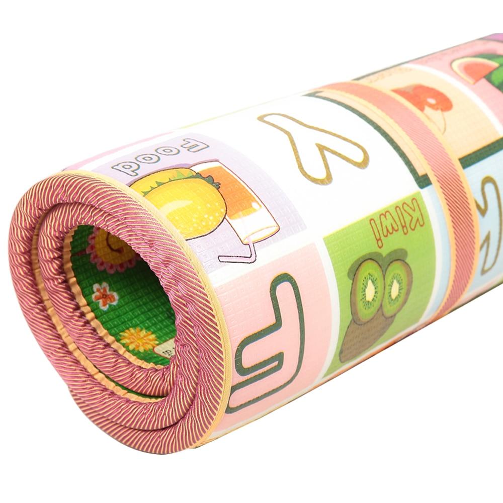 Espesor educativo Mat Kid Crawling Puzzle Play Mats para niños 200 * 180 * 3 cm de espesor bilateral 1/2 / 3CM Juego Bebe alfombra