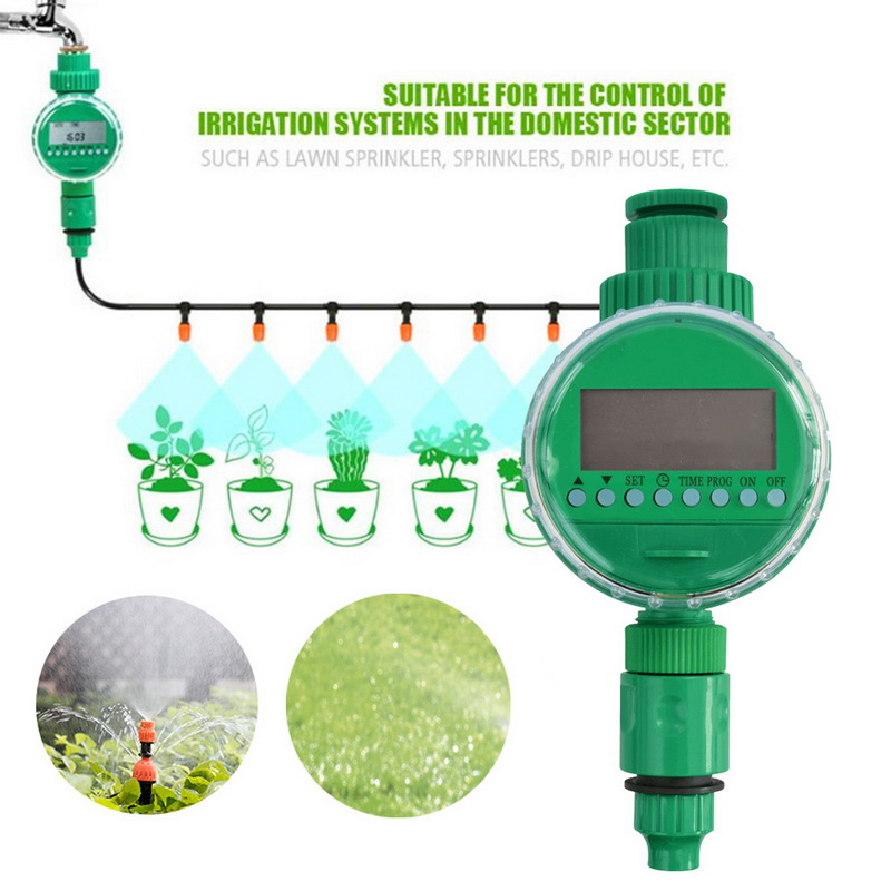 Image 4 - Automatic Smart Irrigation Controller  LCD Display Watering Timer Hose Faucet Timer Outdoor Waterproof Automatic On Off US UK-in Garden Water Timers from Home & Garden