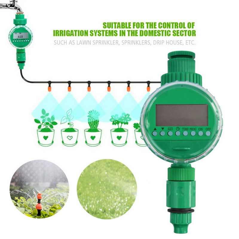 Controlador automático de riego inteligente pantalla LCD temporizador de riego manguera grifo temporizador al aire libre impermeable automático On Off US UK