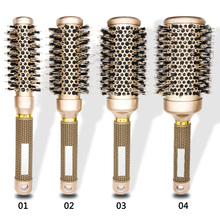 Hair Brush Ceramic&Nylon Hairbrush Round Hair Comb Barber Hairdressing Styling Tools Curly Roller Massage Head Comb недорого