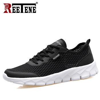 REETENE 2019 Cheapest Air Mesh Men'S Shoes Summer Casual Men Shoes Fashion Leather Casual Shoes Men Sneakers Sandals 37-47