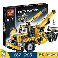267pcs Technic 3348 Mini Mobile Crane Figure Building Kit Blocks Toys Classic Playset Compatible with LegoING