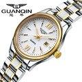 2016 GUANQIN Relógio de Forma Das Mulheres Top Marca de Luxo Relógios de Quartzo Mulheres Se Vestem relógio feminino À Prova D' Água Senhoras Relógio De Ouro