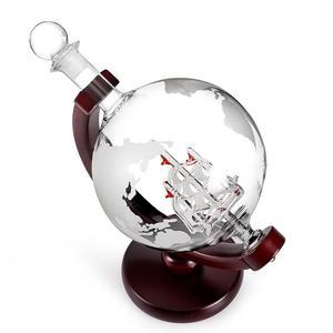 Image 3 - Carafe en verre avec carte rouge cristal, 800ML, carafe pour vin, pour Bar, carafe, bouteille deau de Champagne