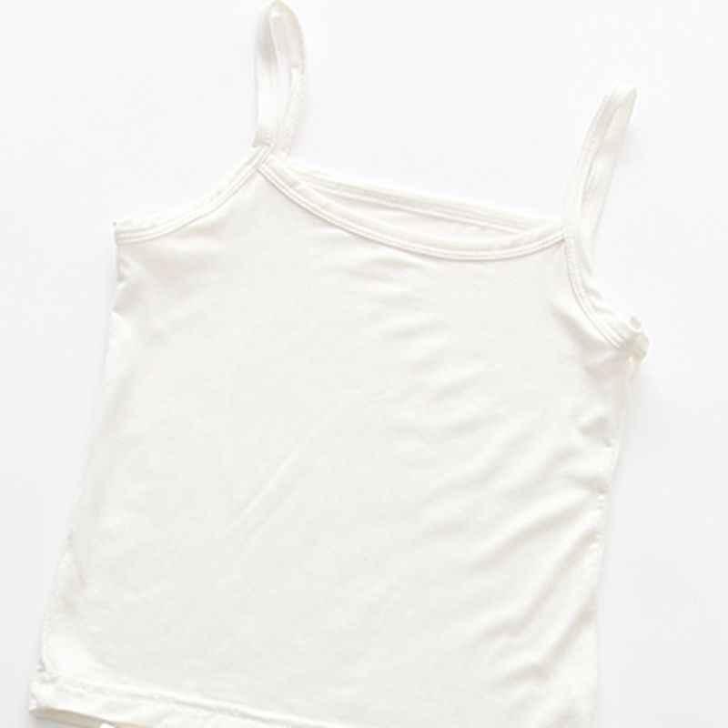 Meninas de algodão Colete Colorido Crianças Camisola Crianças Tops Verão Bebê Tanque Singlet Camisinhas Meninas Adolescente