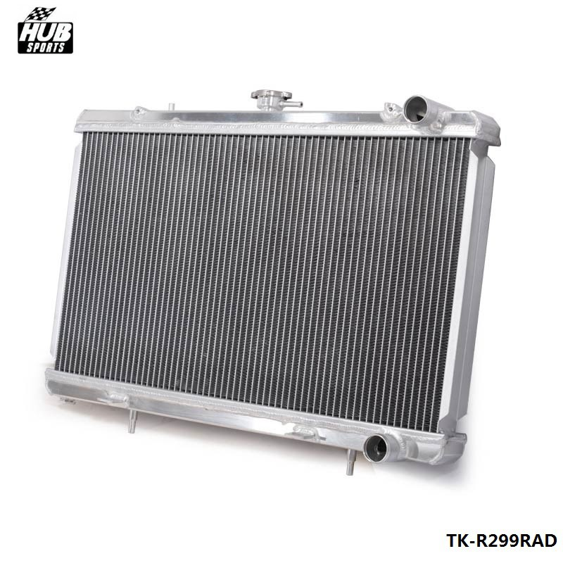 цена на 50MM 2 Row Manual Racing Aluminum Radiator For 89-93 Nissan Skyline R32 RB25 RB20 HU-R299RAD