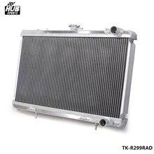 50MM 2 wiersz instrukcja wyścigi aluminium Radiator chłodzenia dla 89 93 Nissan Skyline R32 RB25 RB20 HU R299RAD