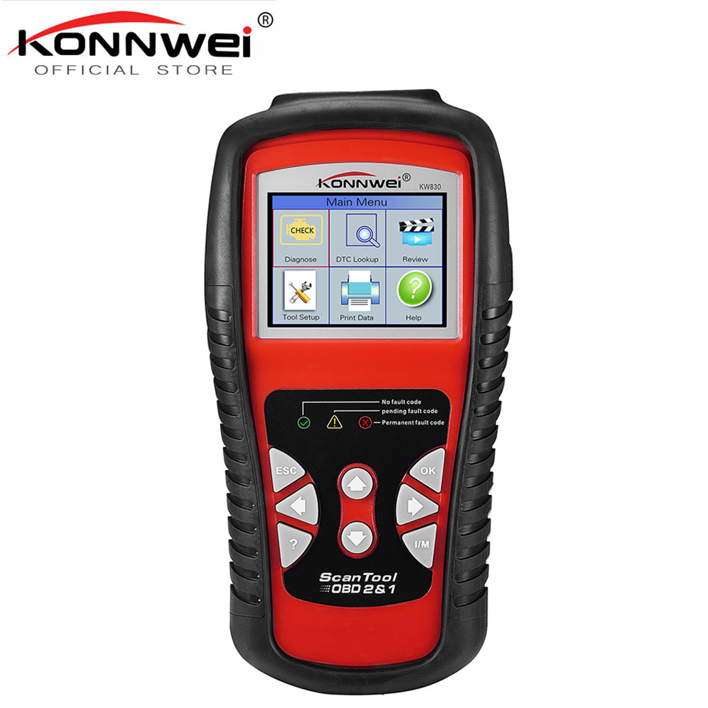 US $49 67 Factory Price OBDII EOBD CAN Scanner tool KW830