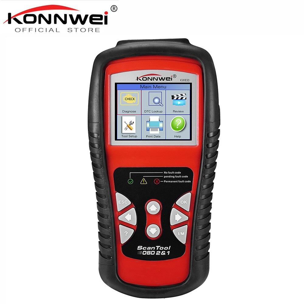 Сканер OBDII EOBD CAN, сканер KW830, автоматический считыватель кодов odb2, диагностическая работа для Renault, лучше, чем MaxiScan MS509