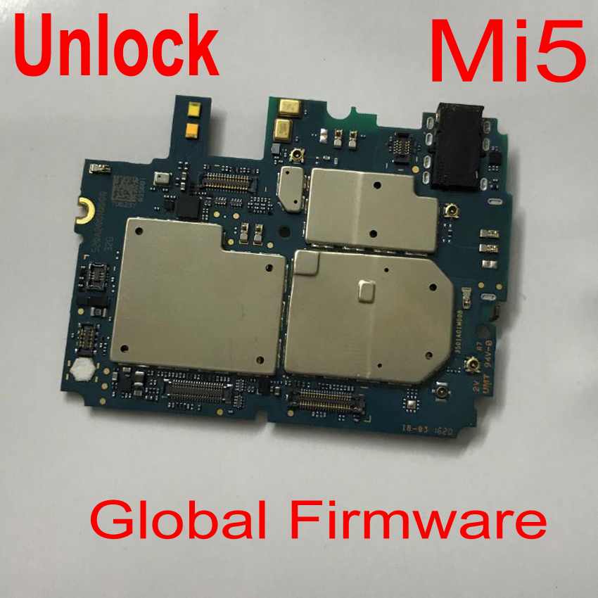 Original Unlock Mainboard For <font><b>Xiaomi</b></font> 5 <font><b>Mi5</b></font> Mi 5 M5 Motherboard card fee chipsets flex cable Phone Parts Global Firmware image