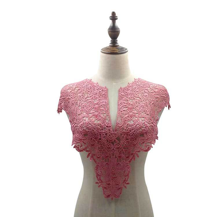 Embroidery Lace-Collar Chest Silk Three-Dimensional Polyester And Water-Soluble