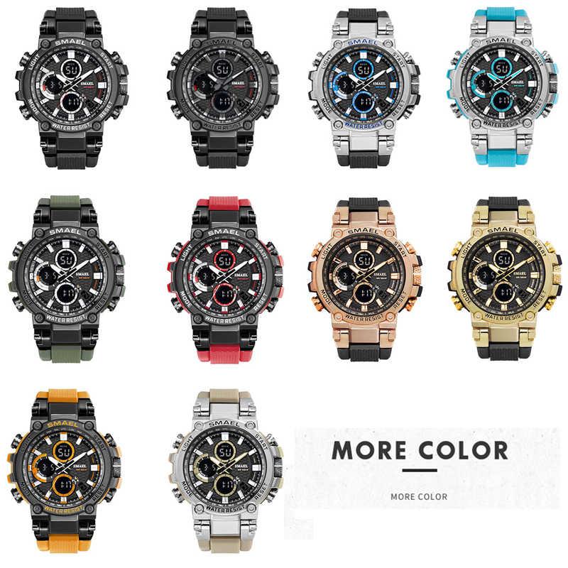 Relógio militar 50m à prova dwaterproof água relógio de pulso led quartzo relógio esporte masculino relogios masculino 1803 smael relógio masculino choque
