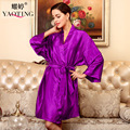 12 Цвет Плюс Размер Шелковый Атлас Халат халат Longue Femme Осень Женщины Sexy Халаты Ночной Рубашке Ночное Рубашки Ночная Рубашка WP131