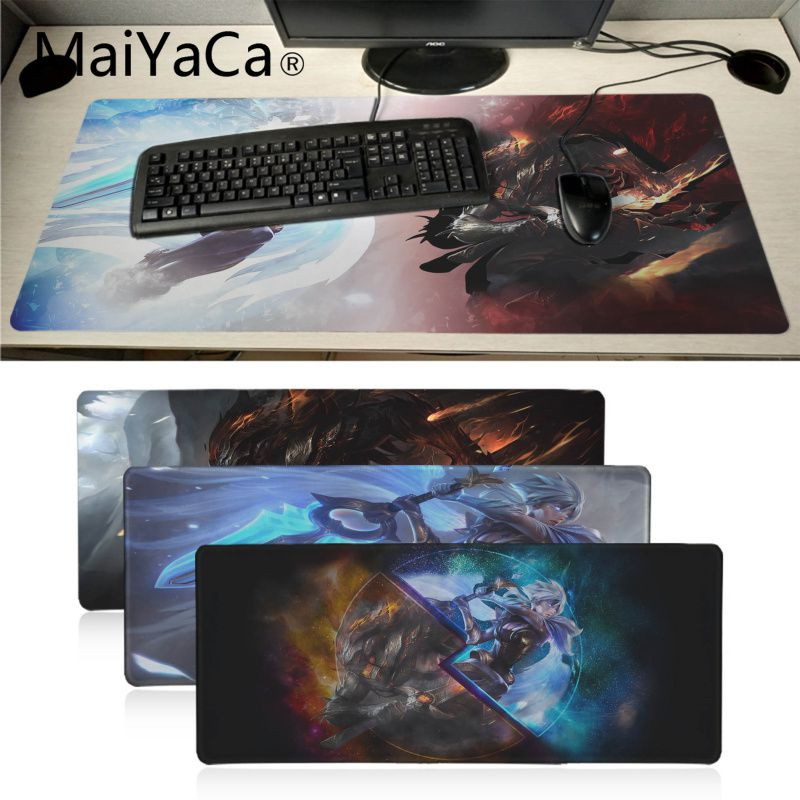 Sianca 80x30cm Lol Mouse Pad Huge Grande Large Mousepads Gamer Gaming Mouse Pads Keyboard Mat For Net Bars Legends Riven Teemo Mouse & Keyboards Computer & Office