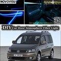 NOVOVISU Für Volkswagen VW Caddy innen Umgebungslicht Tuning Atmosphäre Fiber Optic Band Licht Im Inneren Tür Panel beleuchtung