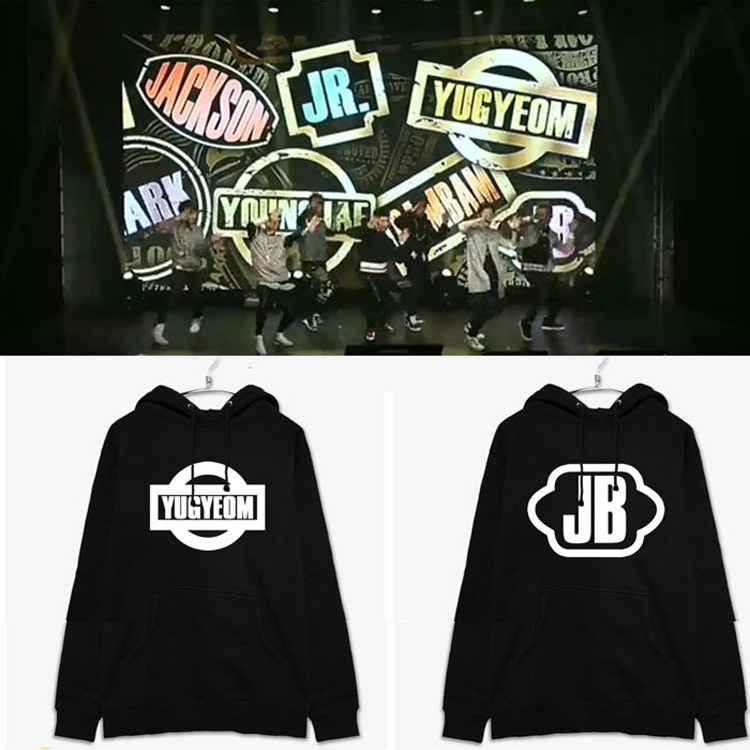 2018 GOT7 same paragraph clothing MARK Wang Jialu JACKSON official hooded fleece sweater