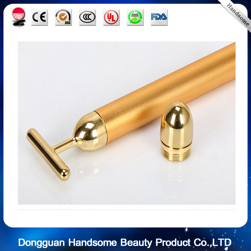 цена на Energy Beauty Bar  5pcs/ lot Waterproof 24K Gold Pulse Firming Massager Roller Facial Eye Pouch Remover Face Care Kit