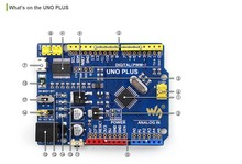 UNO PLUS AVR Board Kit Improved Enhanced Alternative Solution for Arduino UNO R3 with FT232 Onboard + Micro USB Cable