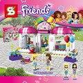 Chica Amigos Stephanie laurie Corazón Lago Tienda de Regalos Del Partido de La Ciudad Bloques de Construcción Figuras Mejores Juguetes para niños 41132