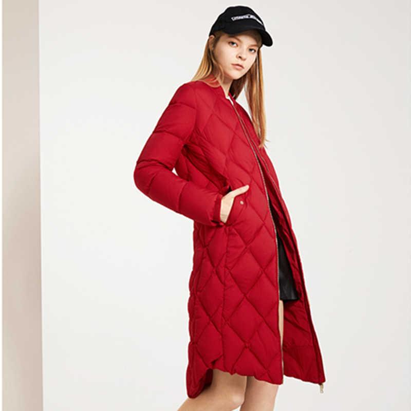 Новая зимняя женская обувь на застежке-молнии Длинные рукава теплые свободные куртка модная теплая Высококачественная верхняя одежда женские белые стеганые куртки C 104