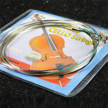 1 Pack Alice A803 Cello Strings Steel Core Nickel Silver Wound Plated Ball End Alloy winding Suitable for 4/4 cellos