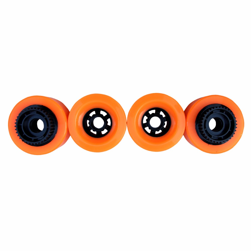 1pc 90mm Electric Skateboard Pu Wheels With Gear E-skateboard Wheels Longboard Wheels SHR83A Hardness 90X52 High Rebound