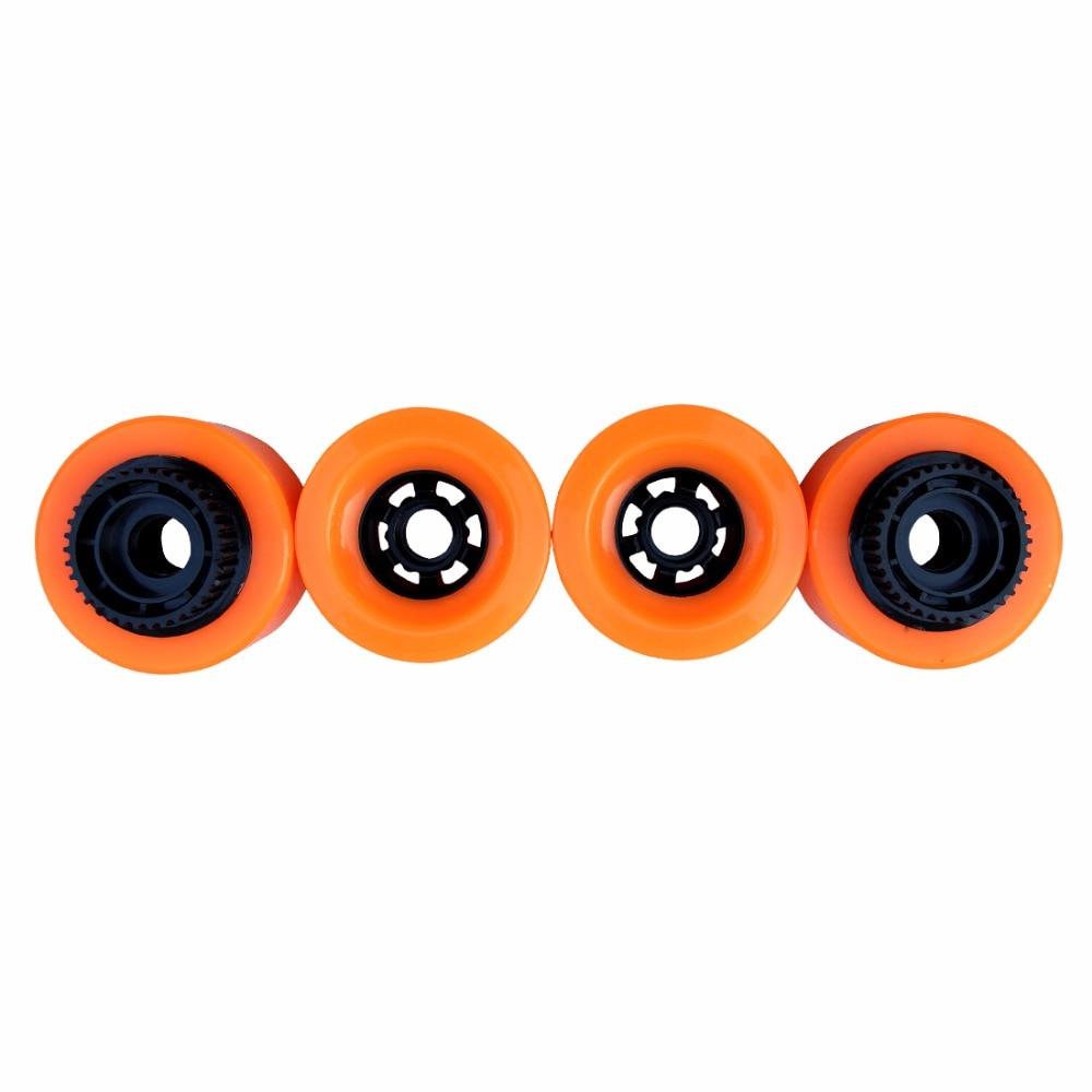 1pc 90mm Electric Skateboard Pu Wheels With Gear E-skateboard Wheels Longboard Wheels SHR83A Hardness 90X52 High Rebound