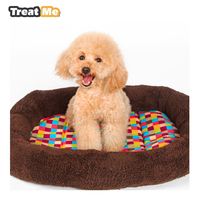 Pet Products Dog House Warm Color Square High Quality Dog Kennel Soft Comfortable Cushion Mat Pet