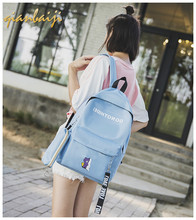 School Bags Student Bag Woman Campus Mini Laptop Backpack Women Bagpack Travel Backpacks Mochila Mujer Girls Preppy Fashion стоимость