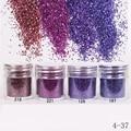 1Box 10ml Purple Blue Glitter Powder Sheets Tips Nail Art Decoration