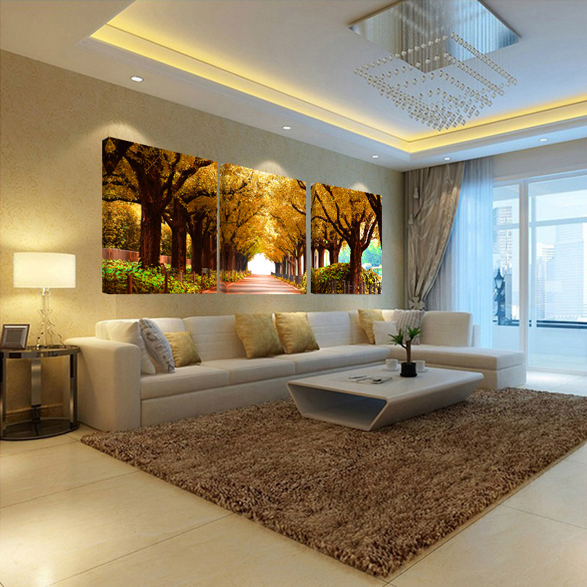 No Frames 3pcs Tree Pictures Home Decoration Wall Paintings For Bedroom Living Room Art Cheap
