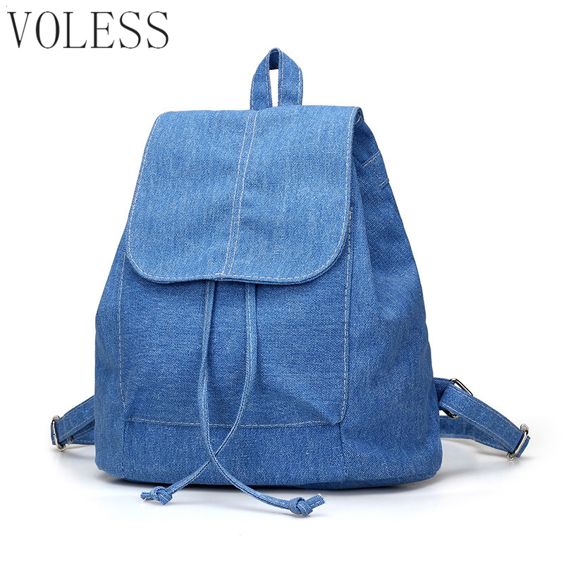 Fashion Women Backpack Canvas Drawstring Bags Schoolbag For Teenagers Girls Preppy Style Casual Backpack Bag Pack mochila fashion denim backpack preppy style casual shoulders double shoulder bag schoolbag style blue x 59966